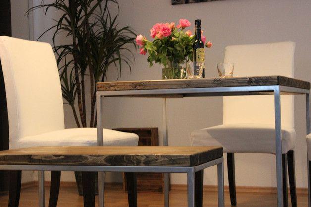 Esstische Holz +Stahl = Tisch ein Designerstück von