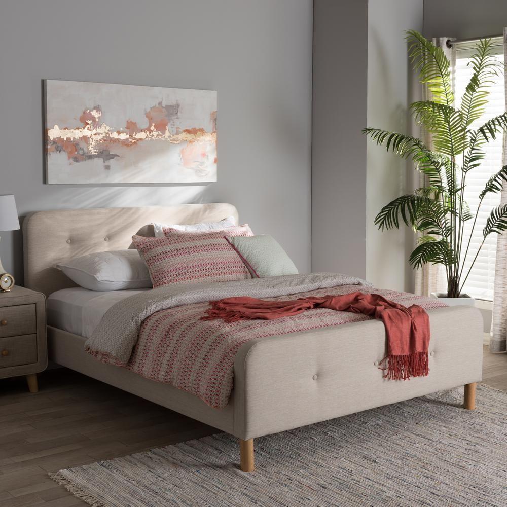 Best Baxton Studio Samson Mid Century Beige Fabric Upholstered 640 x 480