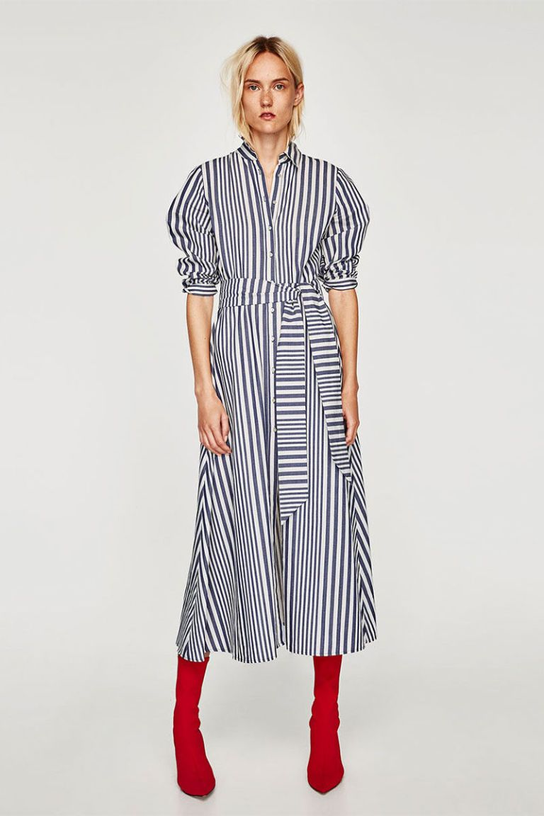 5d4cddd73c This Insanely Popular Zara Shirt Dress Is Back in Stock | fashion ...