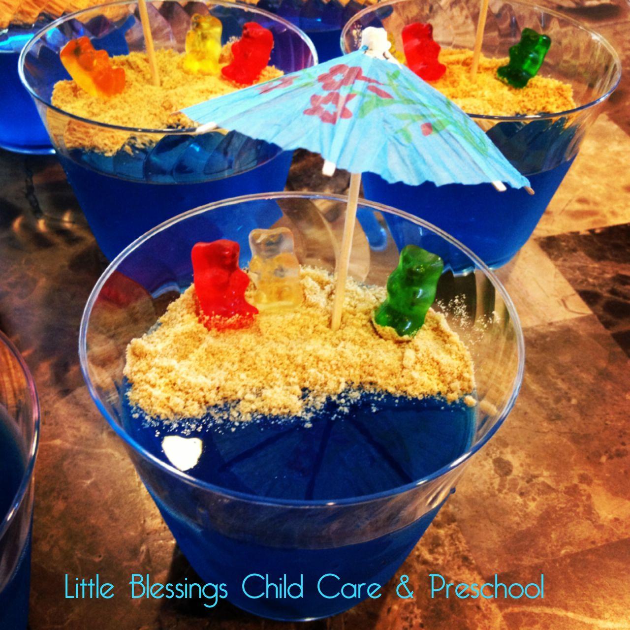 """Bears At The Beach"" Jello Snack. #beachtheme Little"