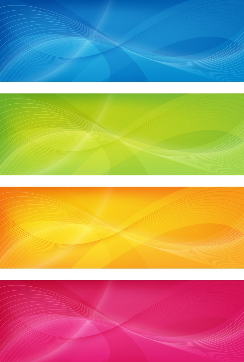 Color banners | Banner vector, Banner, Banner design