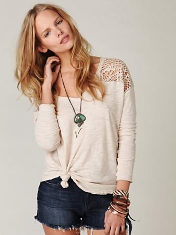 ahh this free people shirt is SUPER CUTE