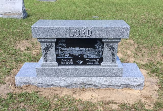 Laser Etching Thank You Lord Family For Allowing Us To Create Such And Beautiful Monument Bench This Is A Grey Grave Headstones Headstones Memorial Benches