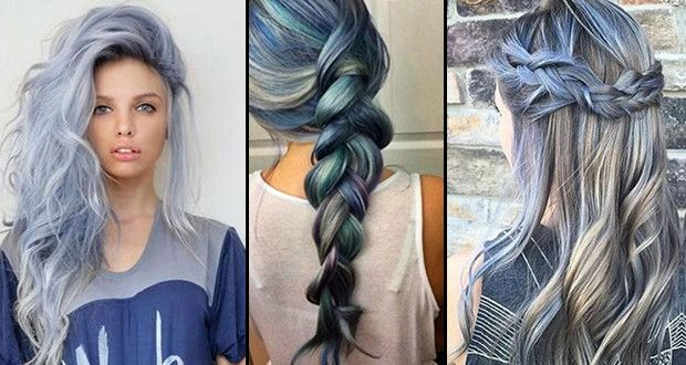 Hairstyle Trends 2017 2018 2019 How To Get The Hot Hair Color For Spring Summer 2016 Blue Denim Beautystat Com Denim Hair Spring Hair Color Hot Hair Styles