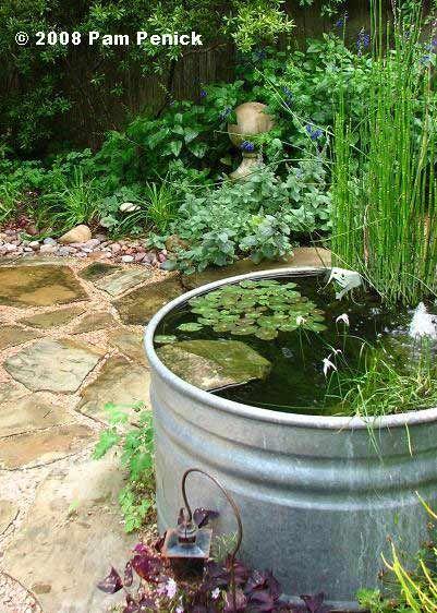 Cómo hacer un estanque acuático con plantas y peces Estanques