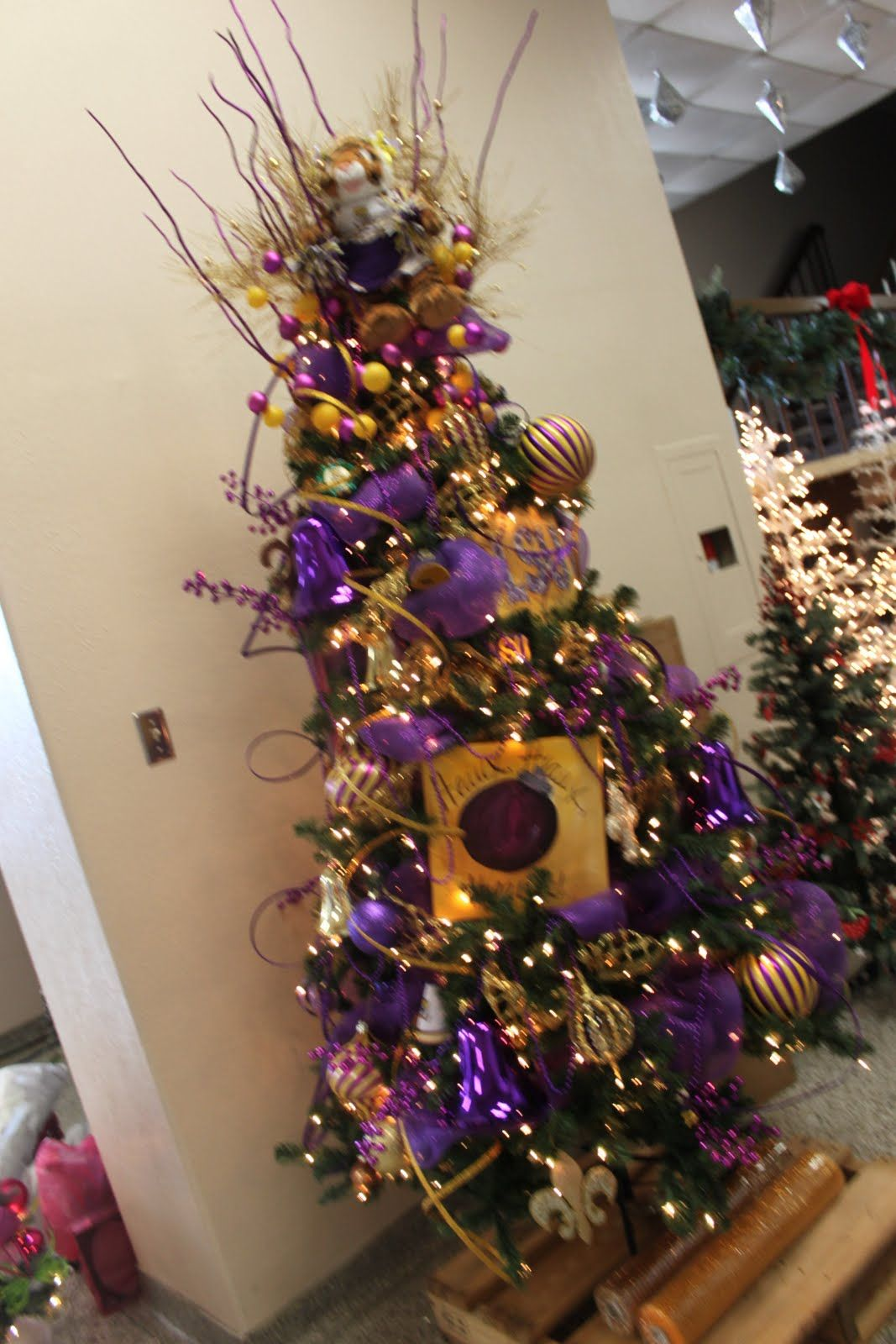 lsu christmas tree - This is how I would decorate my tree for my ...