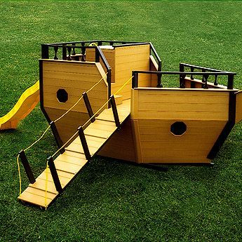Cute Pirate Ship Play Structure Whimsical Playhouses