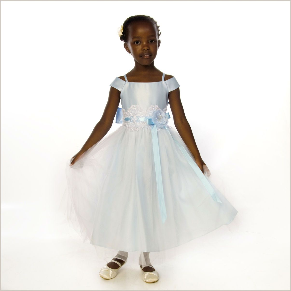 Sky light blue tulle flower girl dress flower girl dresses charlotte flower girl dress in blue ombrellifo Image collections