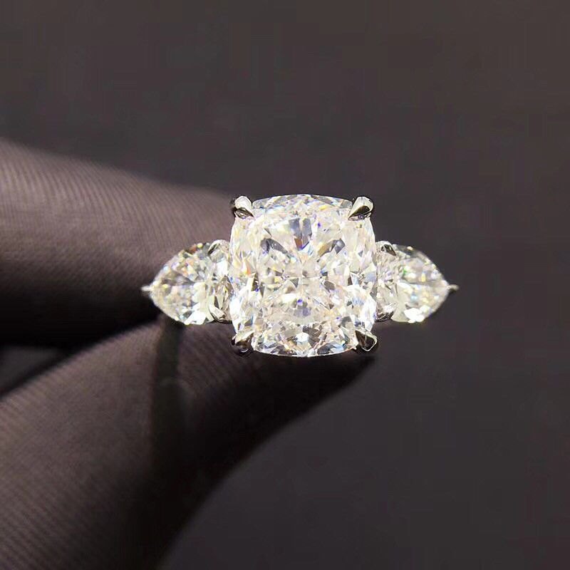 1ct Emerald Cut Pink Ruby Classic Solitaire Engagement Ring 14k WhiteGold Finish