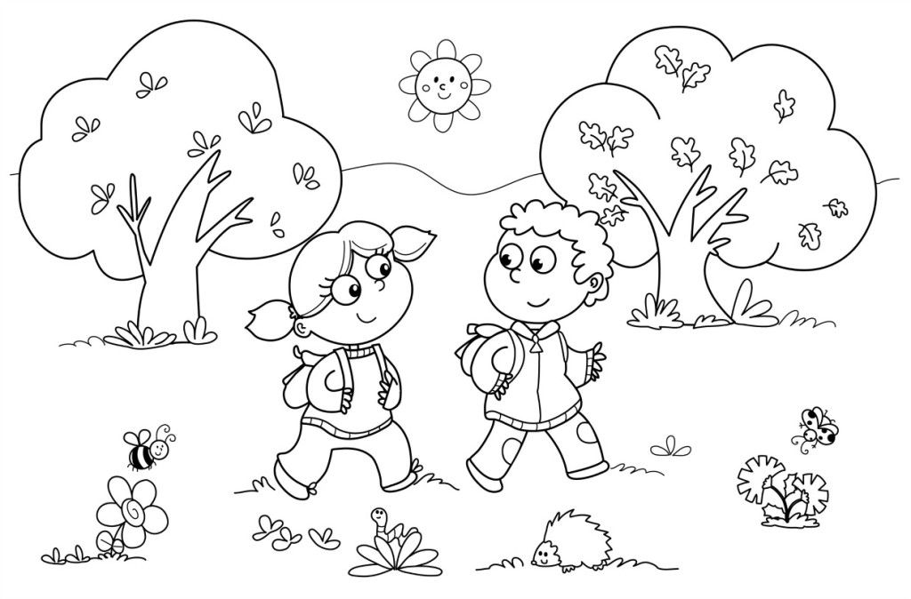 add rocks, soccerball, car etc. clipart and have students color the ...