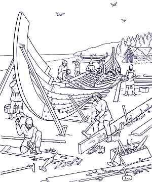 Use For Nephi Needed Help Building The Ship Coloring Pages