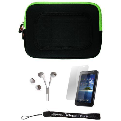 Green/Black Sleeve with Interior Fur Padding for Samsung Galaxy Tablet + Includes a Durable Screen Protector + Includes a 360° Rotatable Windshield Mount by eBigValue. $19.99. Cover Sleeve with Interior Fur Padding for Samsung Galaxy Tablet Protection for your tablet. Comes with two way zipper opening, small accessory pocket inside, and cover edges to keep Galaxy secure. Light weight for hand mobility and scratch resistant. The cover is made to keep your tablet s...