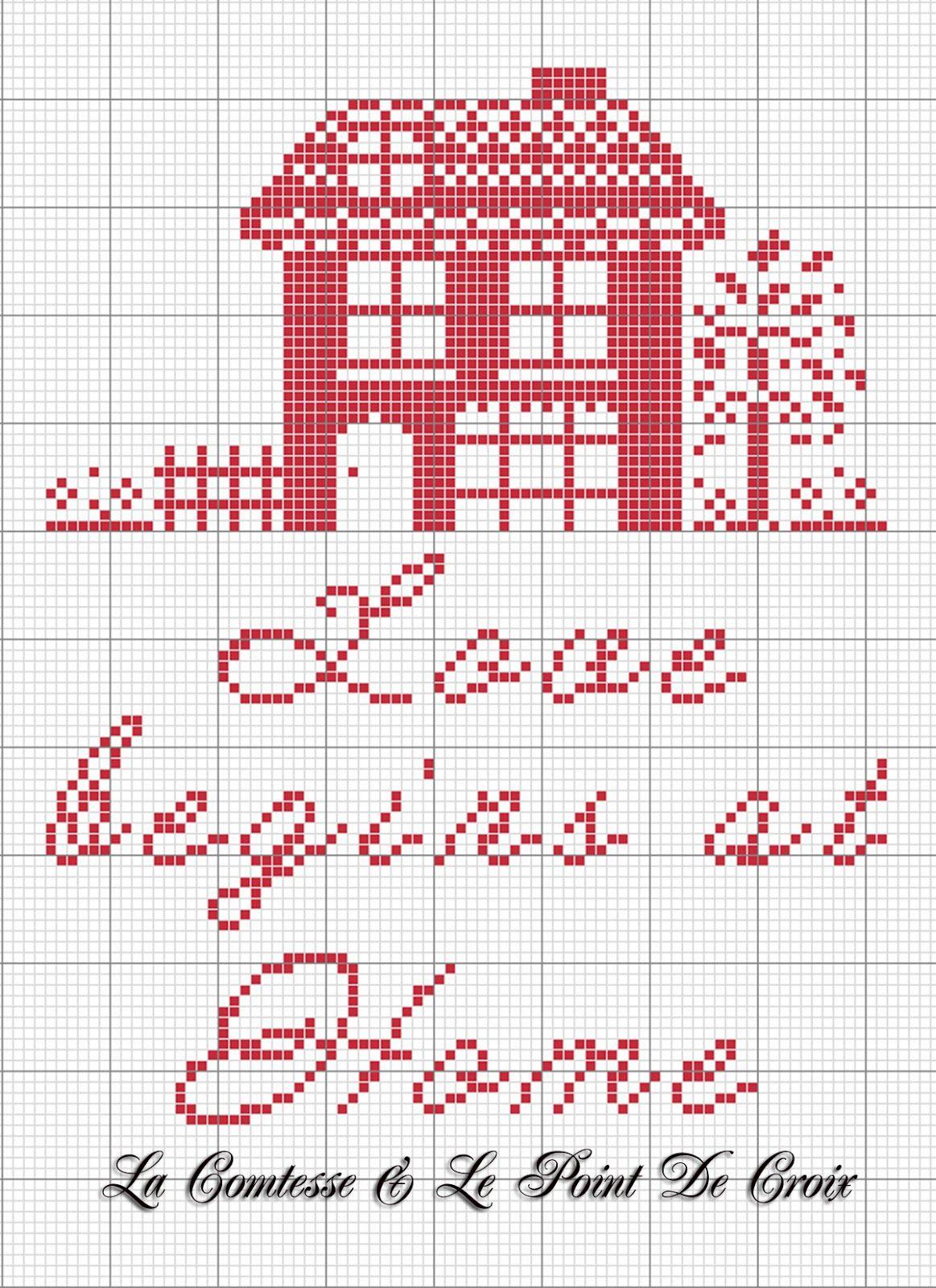 Lacomtesse&lepointdecroix: Love begins at home | bordado | Pinterest ...