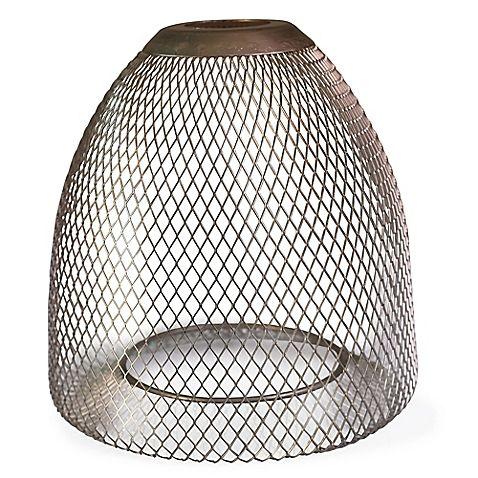 Litex Brushed Nickel Mesh Mini Pendant Shade Lamps