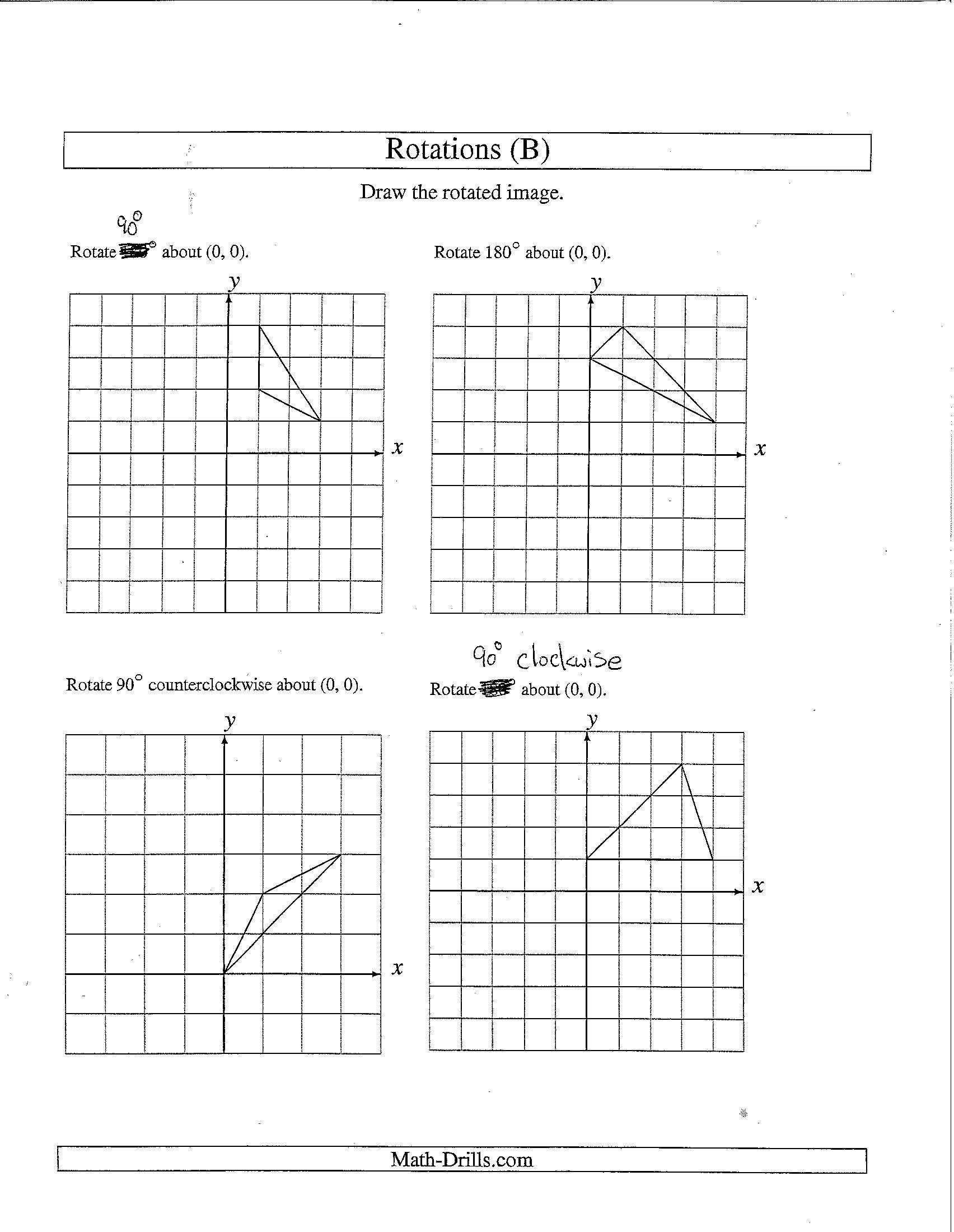 Rotation Worksheet 8th Grade Rotational Symmetry Worksheet