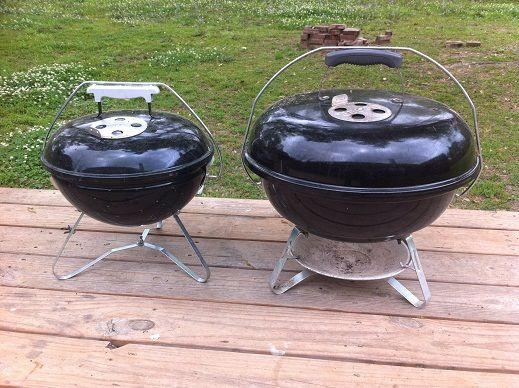 weber jumbo joe vs smokey joe grilling with gas or charcoal pinterest smokey joe and grills. Black Bedroom Furniture Sets. Home Design Ideas