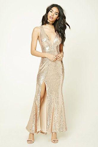 573c76e2 Sequined V-Neck Maxi Dress | Forever 21 - 2000214754 | Closet ...