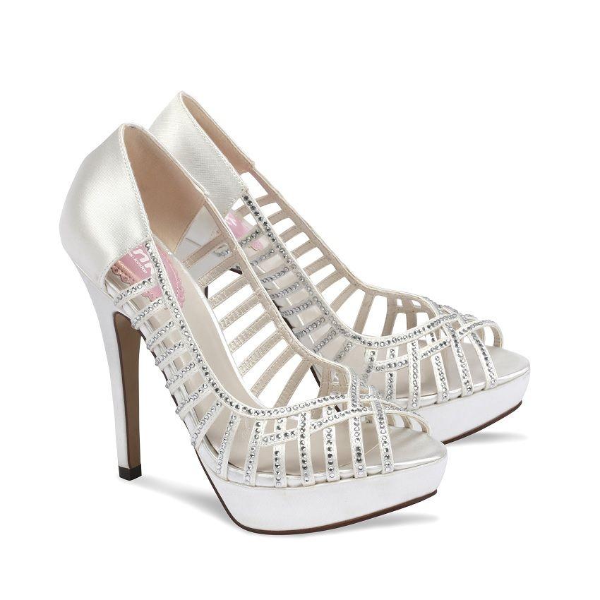 Wedding Shoes Quot Heel Bridal Peep Toe Heels 20