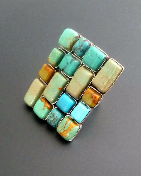 Turquoise heaven! Rustic jewelry.