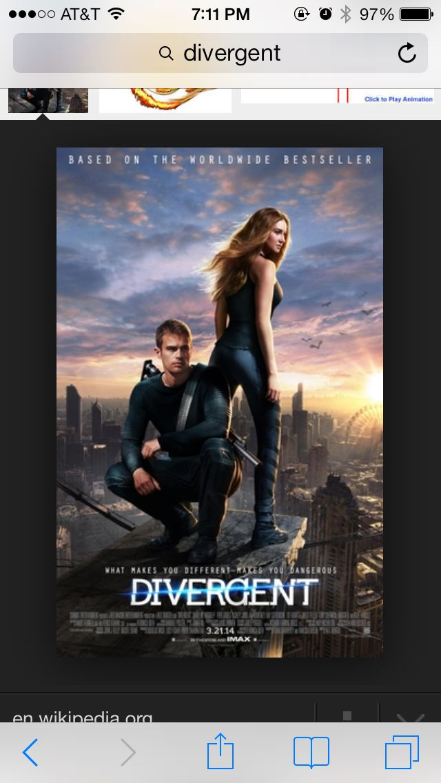 Went to go see Divergent and it was AMAZING