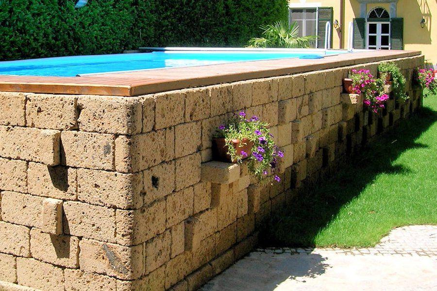Risultati immagini per copertura fai da te piscina fuori - Rivestire piscina fuori terra fai da te ...