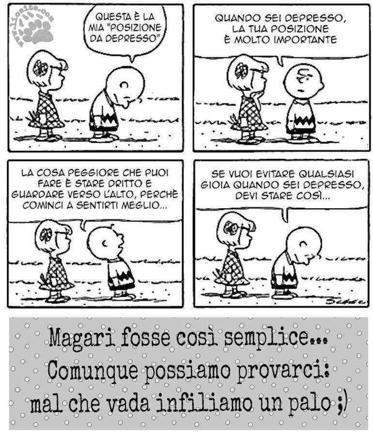 Su la testa e guardiamo il cielo ...   #mafalda, #comics, #striscia, #fumetti, #linus, #schultz, #italiano, #depressione, #esserepositivi,