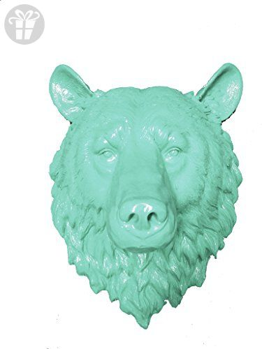 Fake Mint Bear Head Faux Taxidermy Resin Mount Studio 17 5 H Partner Link
