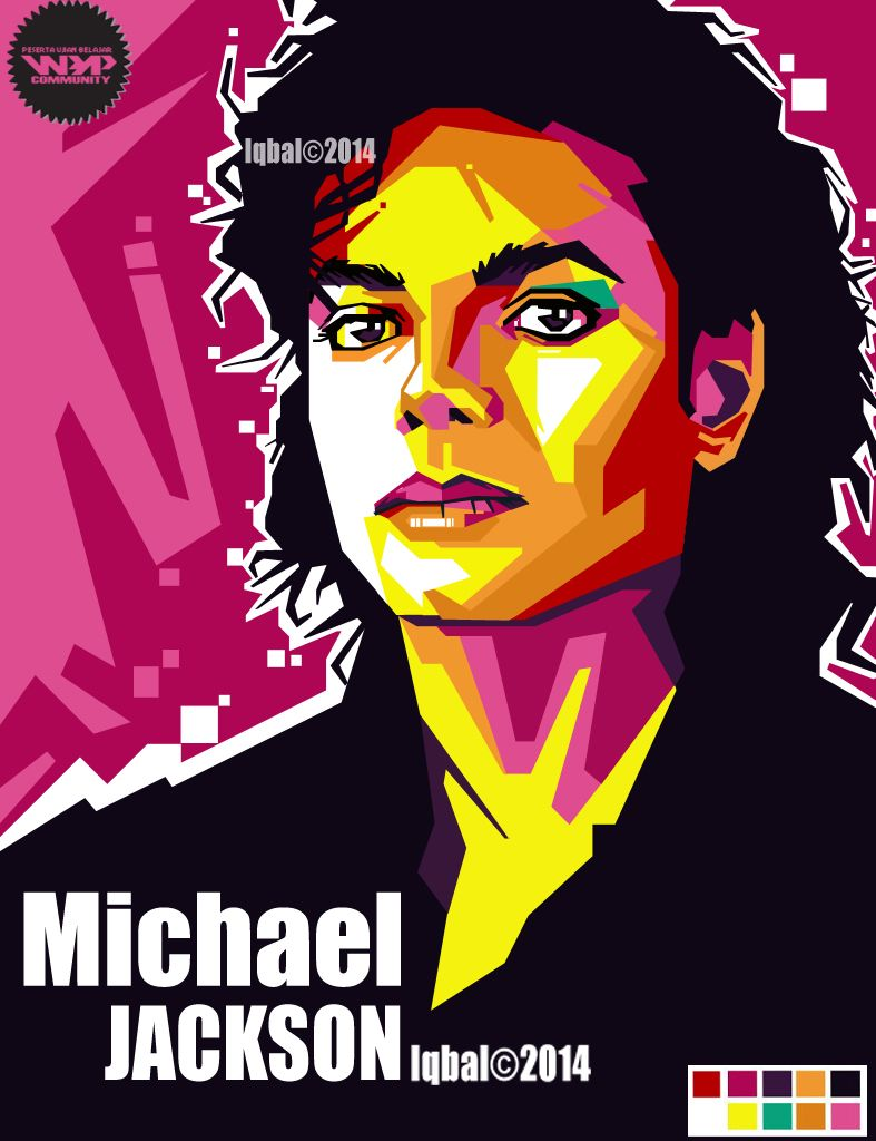 WPAP MICHAEL JACKSON by iqbal by iqbaldwi on deviantART