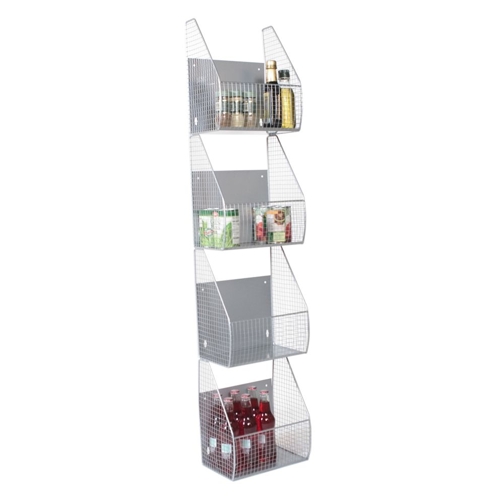 High Quality 4 Tier Pantry Baskets Door Or Wall Mount Baskets Are The Perfect  Multi Functional Storage Organizer For You. Feet Length W Four Deep And  Sturdy Mesh Baskets ...