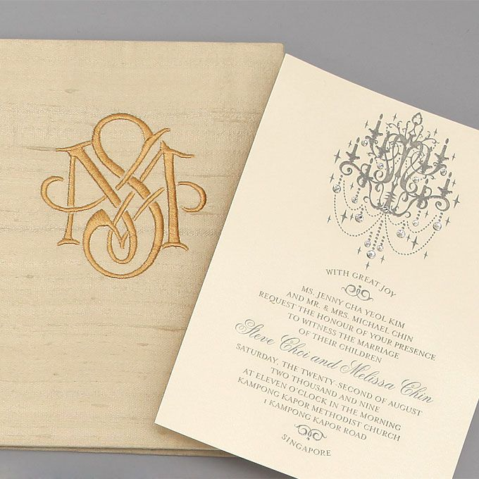 Brides Wedding Invitations By Location Ballroom Crystal Chandelier Invitation In Doupioni