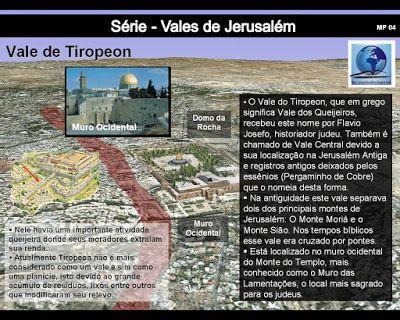 História e Geografia Bíblica: Série - Vales de Jerusalém