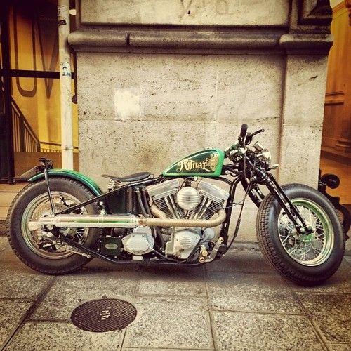 Bobber Inspiration | Harley bobberby gotzgoppert http://ift.tt/1depqNd | Bobbers and Custom Motorcycles