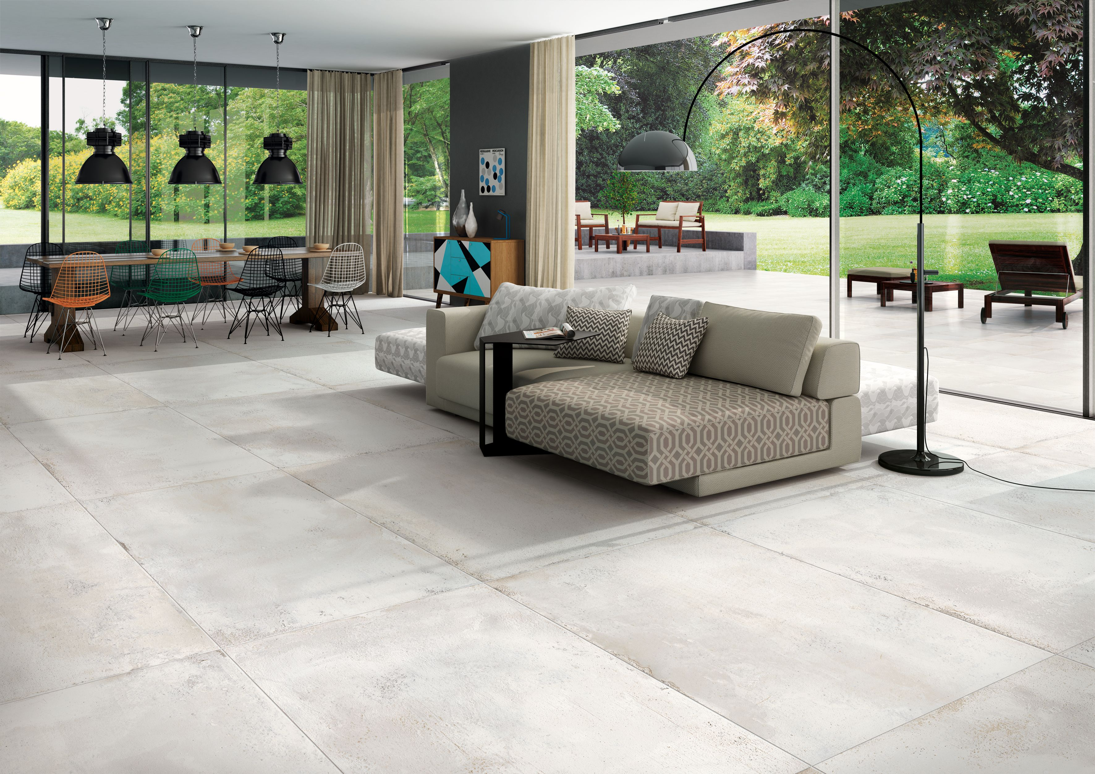 Carrelage Interieur Effet Beton Use 60x120 Blanc Naturel Rectifie