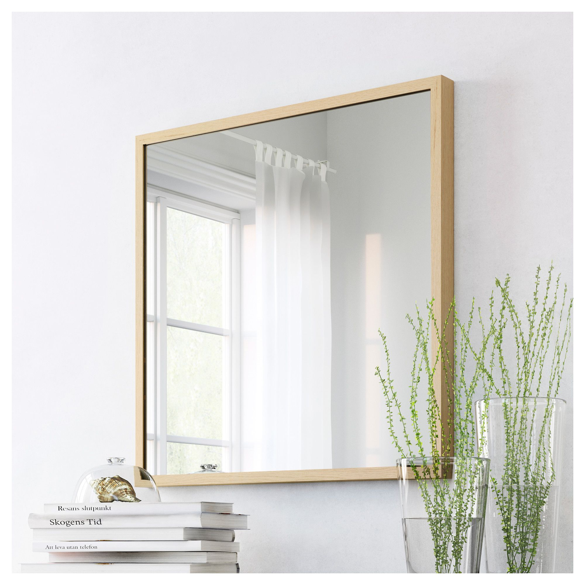 IKEA STAVE mirror Provided with safety film - reduces damage if ...
