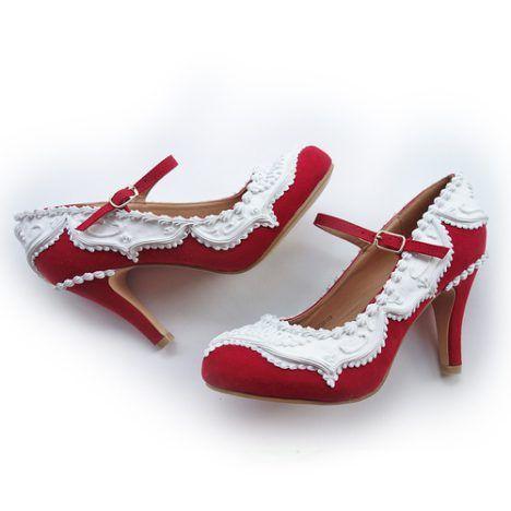 afde92c64cf7d9 Shoe Bakery – Pinup Schuhe im Torten-Look Oh mein Gott! Diese Schuhe müssen Pin  Up Girls gesehen haben – egal ob sie ein Fable für High Heels haben oder ...