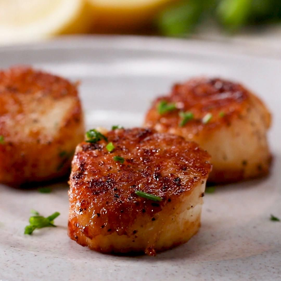 Seared Scallops Recipe By Tasty Recipe Scallop Recipes Seafood Recipes Delicious Seafood Dinners