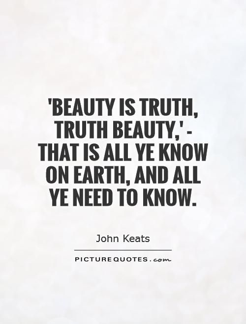 truth is beauty keats