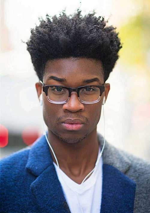 curly top hairstyle black men