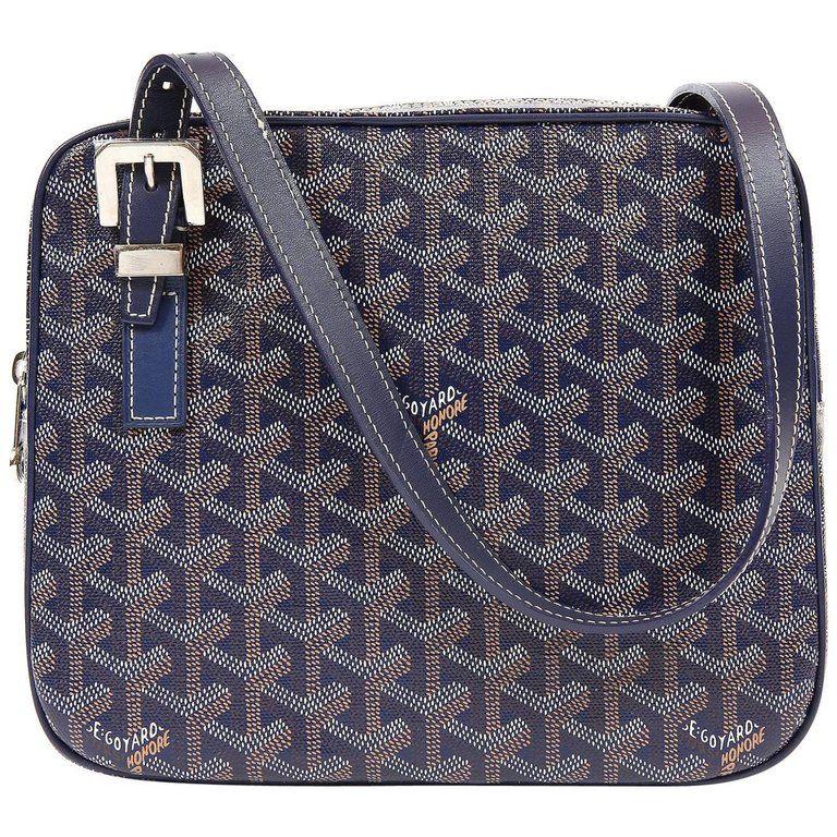 20e654e39c2 Goyard Blue Monogram Yona MM Bag