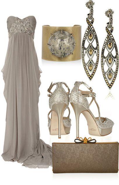 Fashion Mix and Match: Long live the Queen!  Bello vestido con sus respectivos accesorios, dignos de una reina.