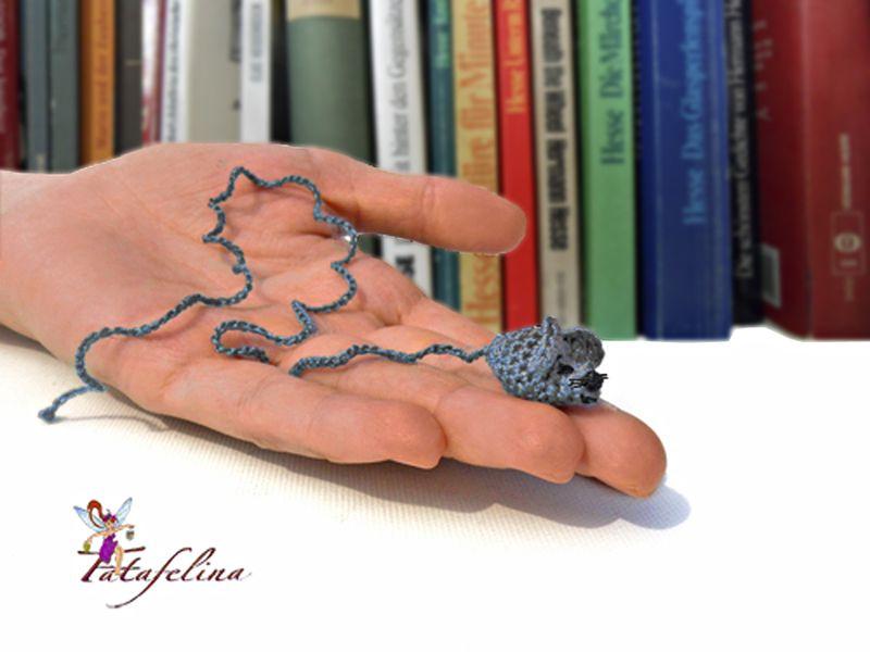 Miniatur Maus Lesezeichen Maus von Fatafelina auf DaWanda.com