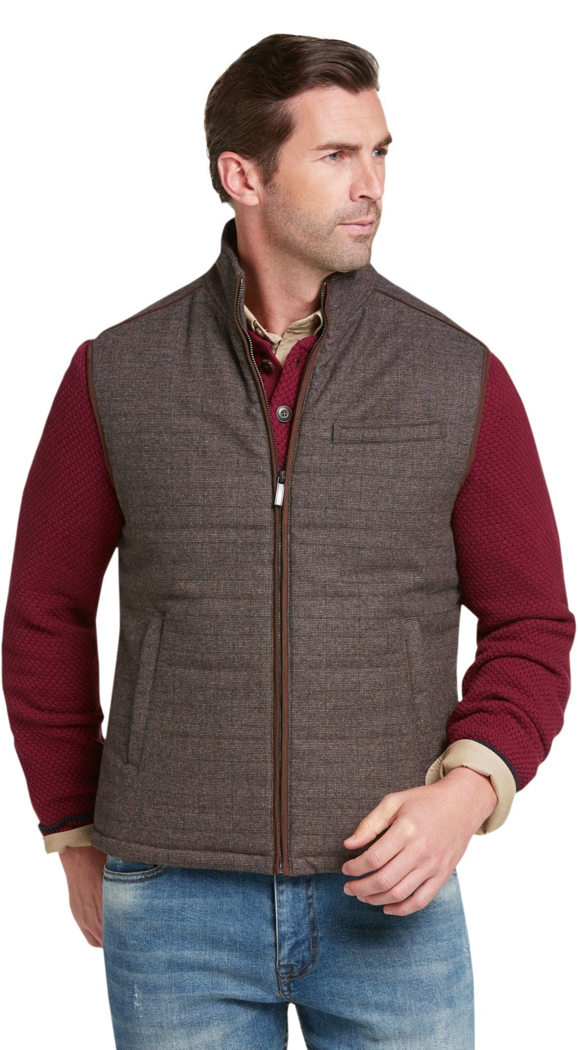e6573b03f2b Reserve Collection Tailored Fit Tweed Vest - Big   Tall CLEARANCE in ...