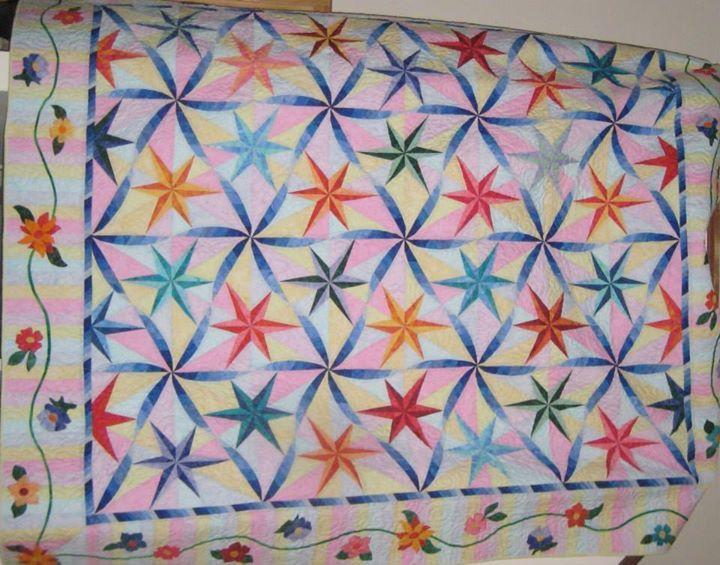 Twisted Star, Quiltworx.com, Made by Liz Doyle.