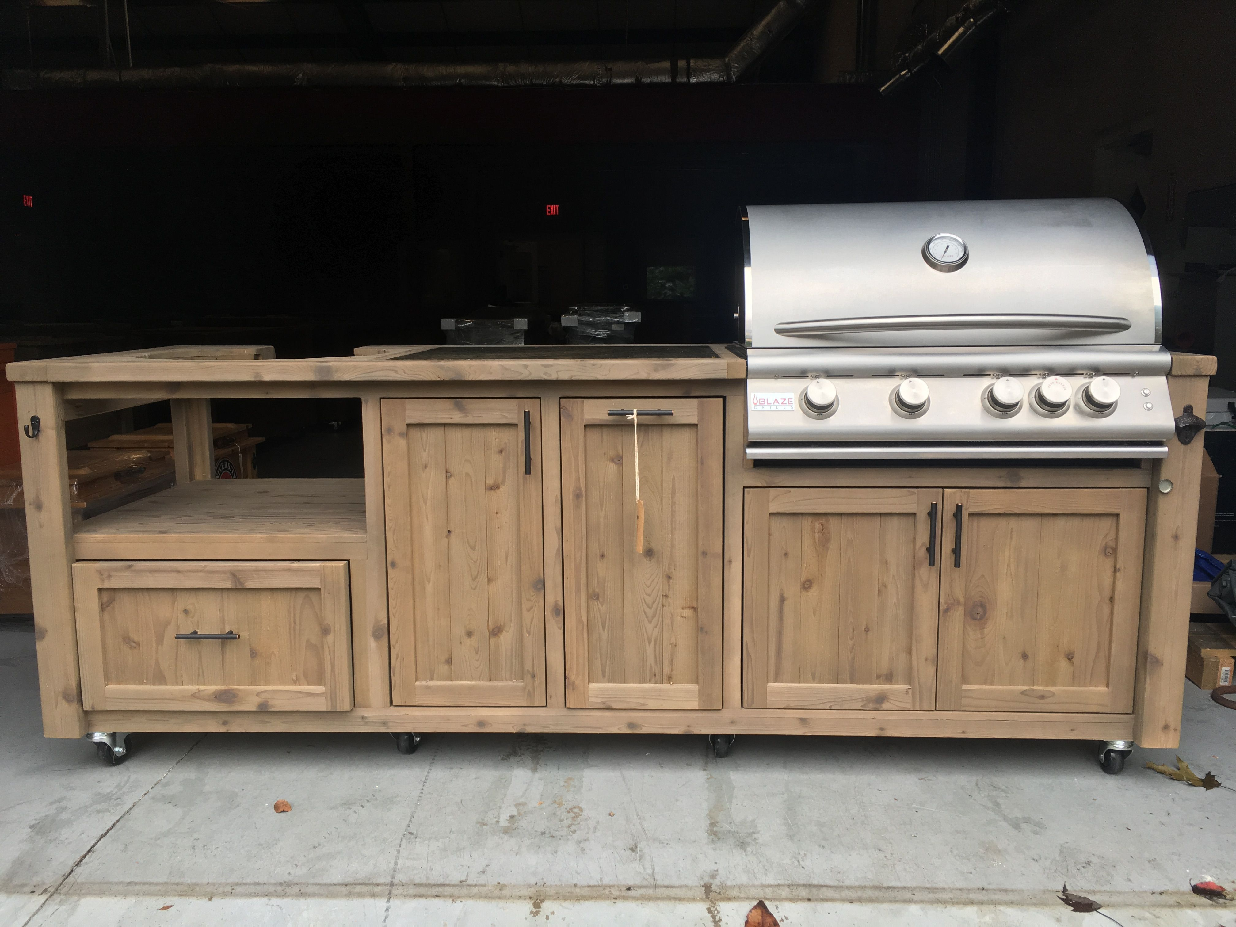 Custom Dual Kamado And Gas Grill Cabinets And Outdoor Kitchens Grilling Bbq Barbque Outdoorfurniture O Outdoor Kitchen Patio Kitchen Outdoor Kitchen Bars