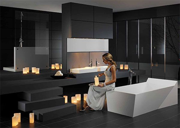 Bathroom Stylish Bathroom By Duscholux Black Floor Traffic Master Square  Contemporary Indoor Ceramic Tile Flooring. Bathroom Stylish Bathroom By Duscholux Black Floor Traffic Master