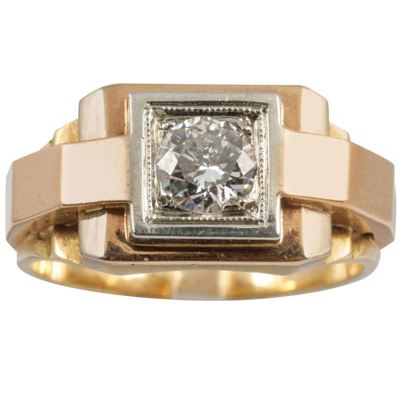 1940s Diamond Gold Dress Ring 1stdibs Com Antique Rings For Sale Antique Rings Gold Diamond Jewelry