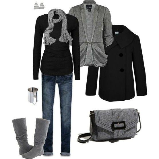 grey and black comfy clothes
