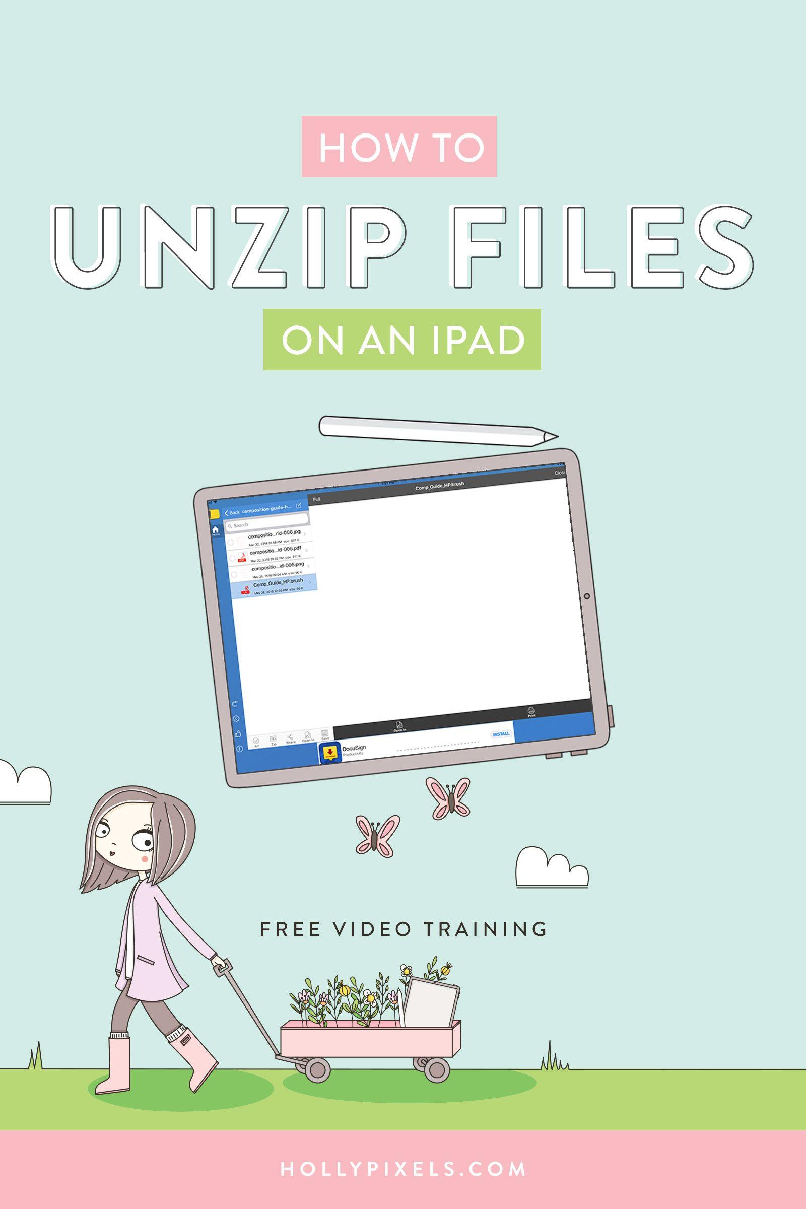 Unzipping Files on iPad Ipad lettering, Digital sticker