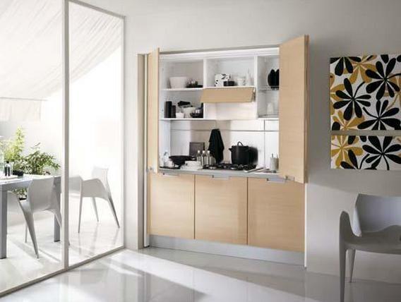 Cocinas ocultas kitchen hidden kitchen compact living y living furniture for Mini cucine ikea