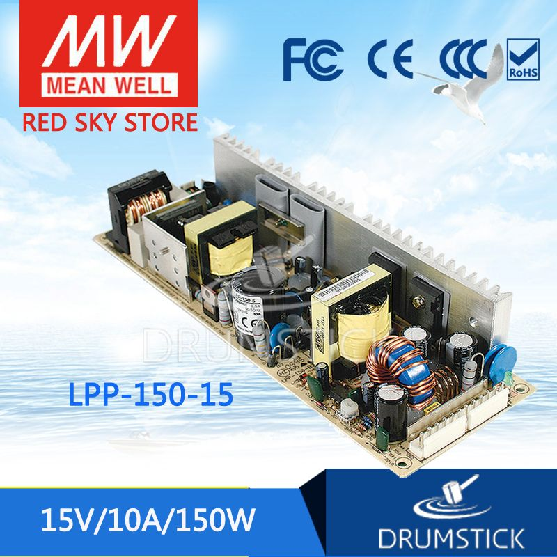 MW Mean Well LPP-150-13.5 13.5V 11.2A 150W Single Output with PFC Function Power Supply